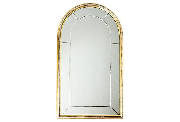 Furniture: Captivating Arched Mirror For Home Furniture Ideas Pertaining To Gold Arch Mirrors (#10 of 20)