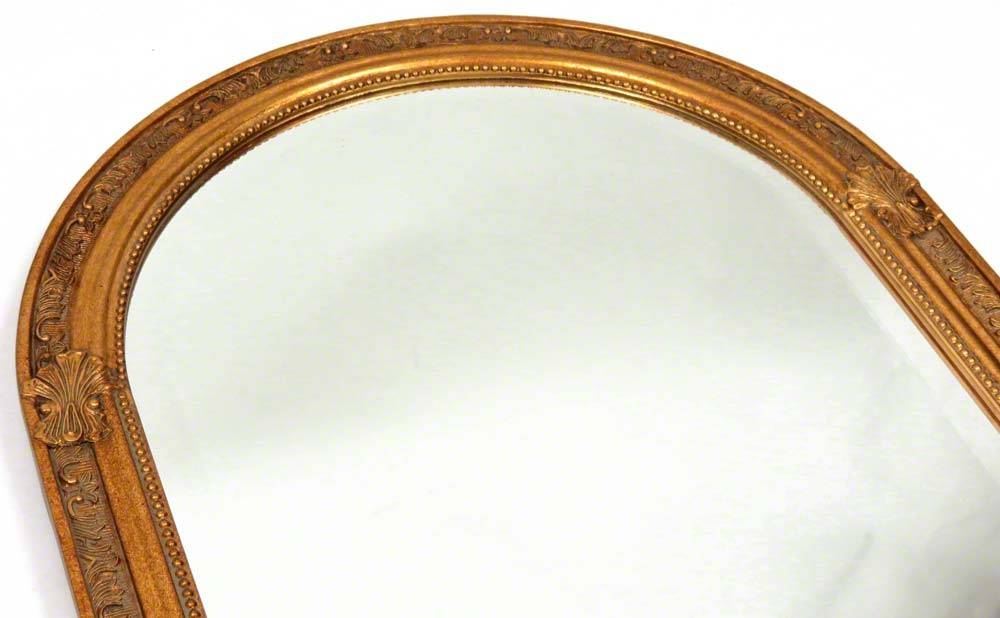 Furniture: Captivating Arched Mirror For Home Furniture Ideas With Regard To Gold Arch Mirrors (#11 of 20)