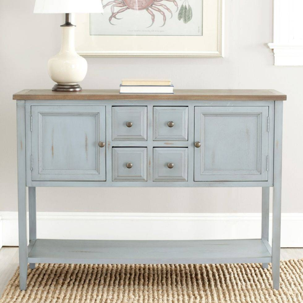 Furniture: Contemporary Version Of Distressed Sideboard Buffet For Kitchen Sideboard (#5 of 20)