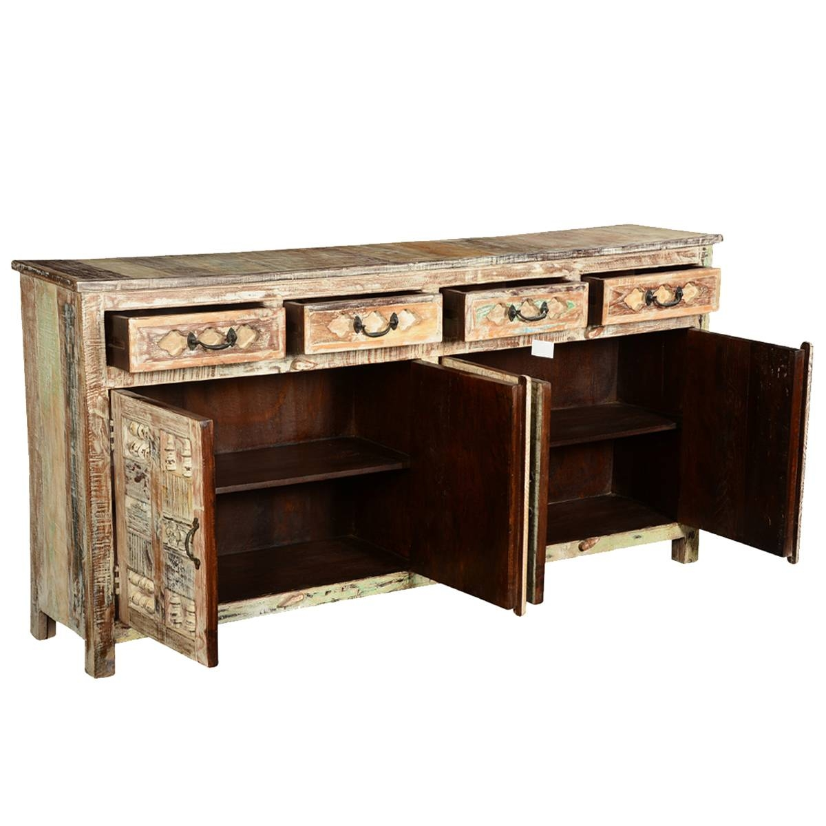 Furniture: Contemporary Version Of Distressed Sideboard Buffet Pertaining To Metal Sideboards (View 11 of 20)