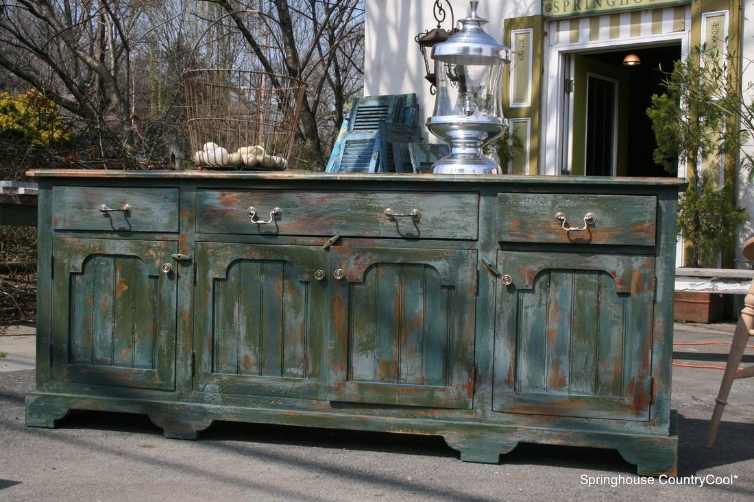 Furniture: Contemporary Version Of Distressed Sideboard Buffet With Regard To Distressed Sideboard (#6 of 20)