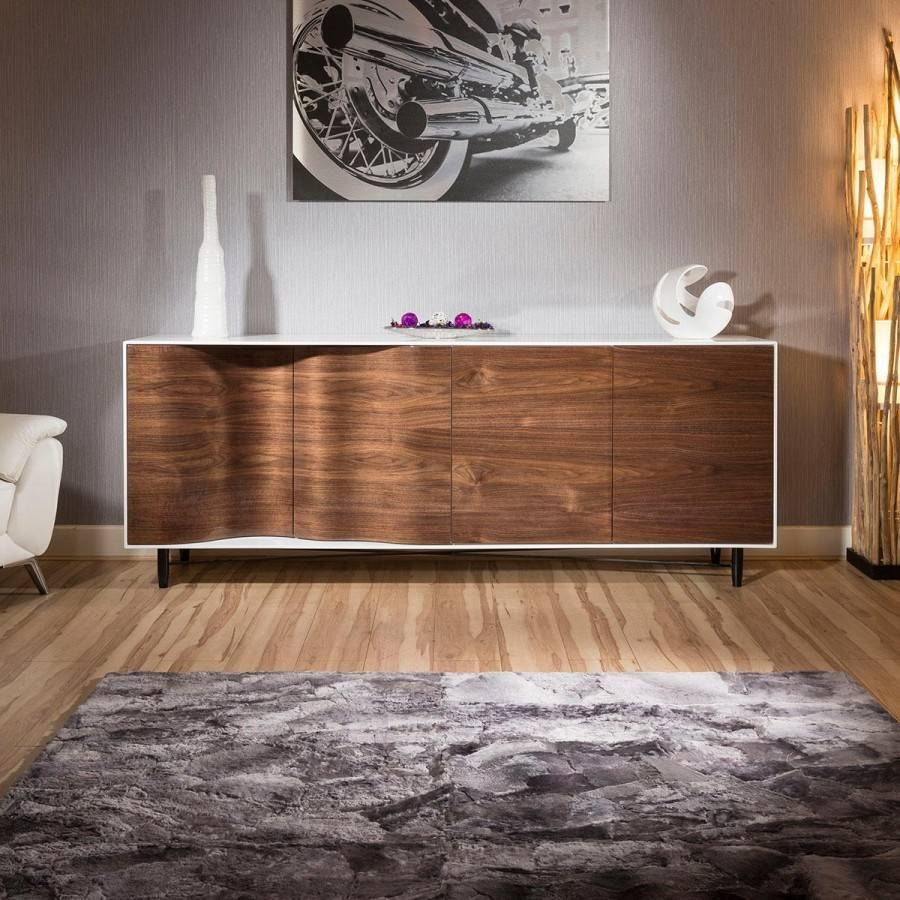 Furniture: Danish Modern Sideboard With Storage Sideboard Cabinet Throughout Modern Living Room Sideboards (#13 of 20)