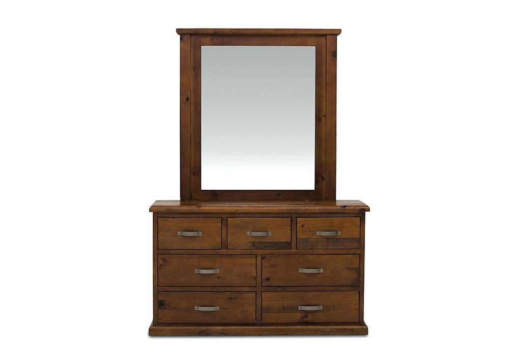 Furniture Dressing Table Brown Wooden Varnished Ornamental Mirror With Regard To Ornamental Mirrors (View 14 of 20)