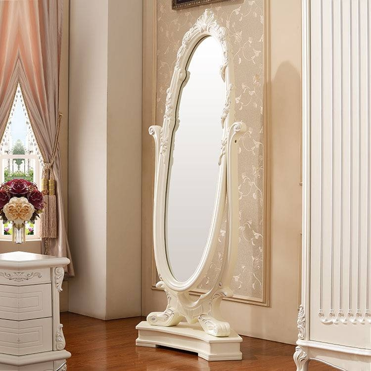 Furniture French Luxury Style Dressing Mirror Full Length Mirror With French Full Length Mirrors (View 12 of 20)