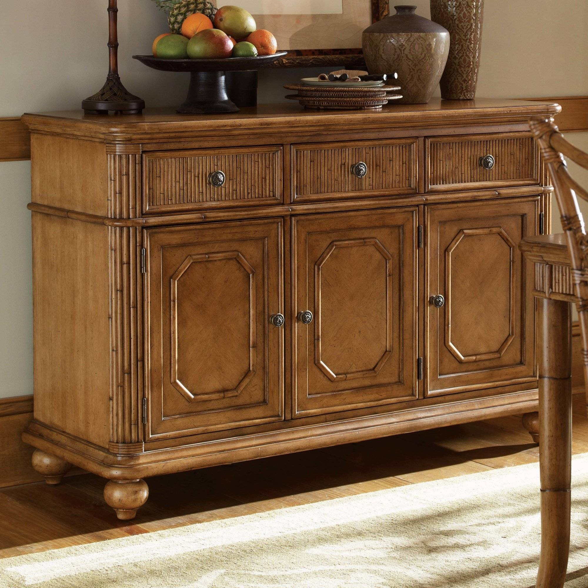 Furniture: Kitchen Hutch Buffet | Distressed Sideboard In Unfinished Sideboards (#8 of 20)