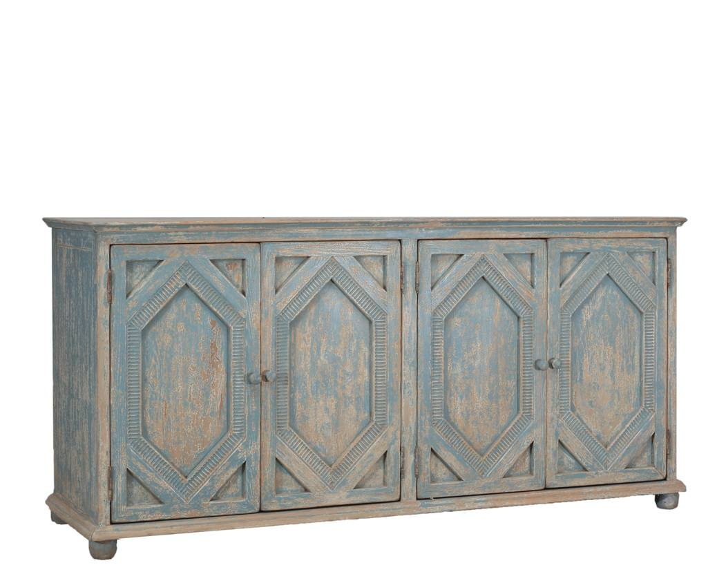 Furniture: Kitchen Hutch Buffet | Distressed Sideboard Intended For Unfinished Sideboards (#9 of 20)