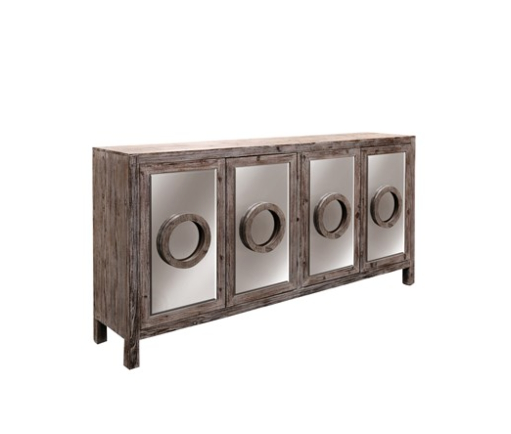 Furniture: Kitchen Hutch Buffet | Distressed Sideboard With Regard To Unfinished Sideboards (#10 of 20)