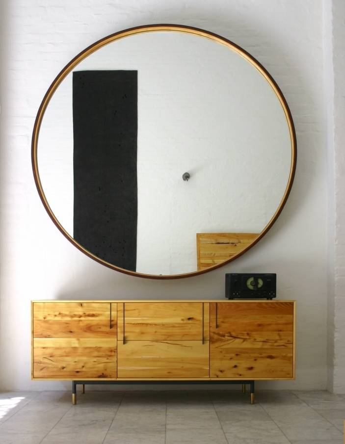 Furniture | Leather Round Mirror | Bddw Intended For Round Leather Mirrors (#11 of 30)