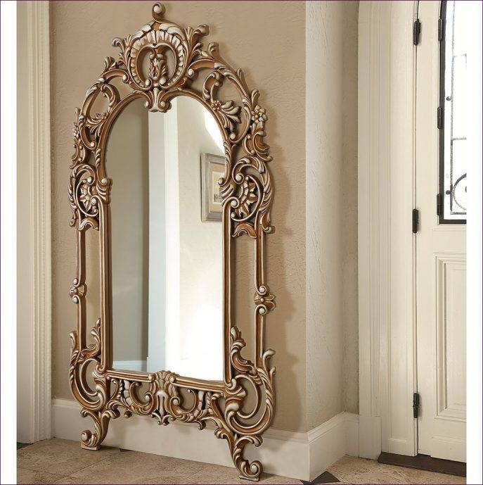 30 collection of long decorative mirrors for Long stand up mirror