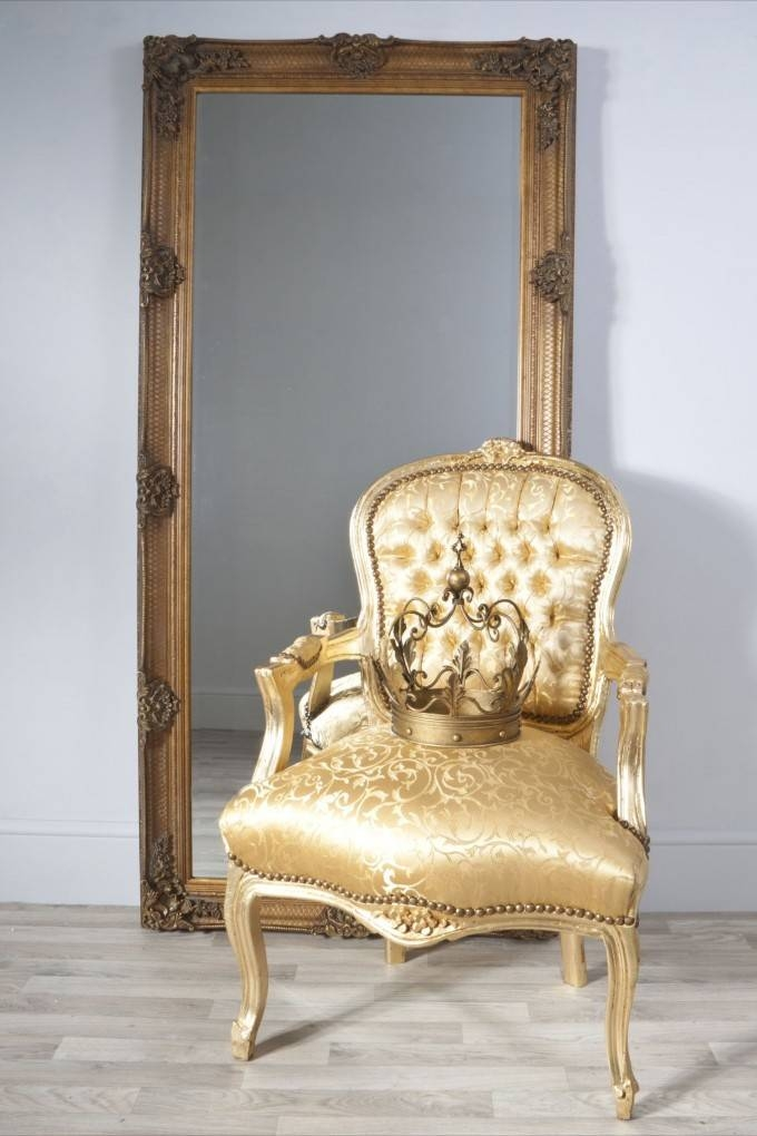 Furniture: Mesmerizing Oversized Floor Mirror For Home Furniture Inside Gold Standing Mirrors (#17 of 30)