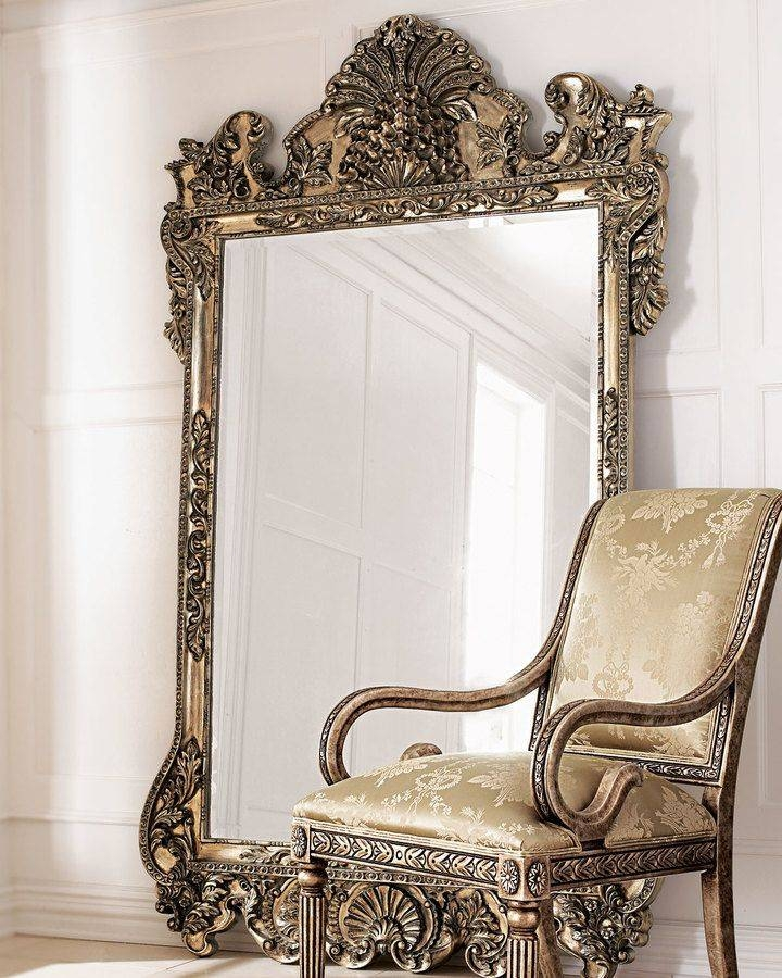 Furniture: Mesmerizing Oversized Floor Mirror For Home Furniture Inside White Decorative Mirrors (#13 of 20)