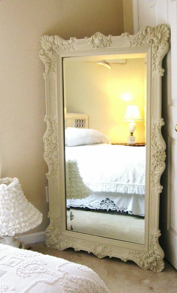 Furniture: Mesmerizing Oversized Floor Mirror For Home Furniture Within Cream Wall Mirrors (View 12 of 20)