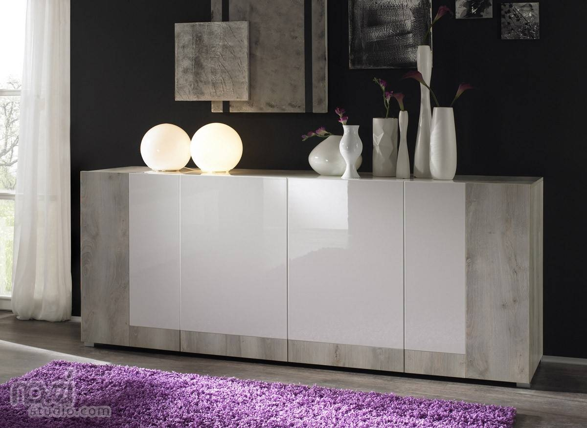 Furniture: Minimalist Modern Sideboards With Glass Front Buffet In Glass Sideboards (#8 of 20)