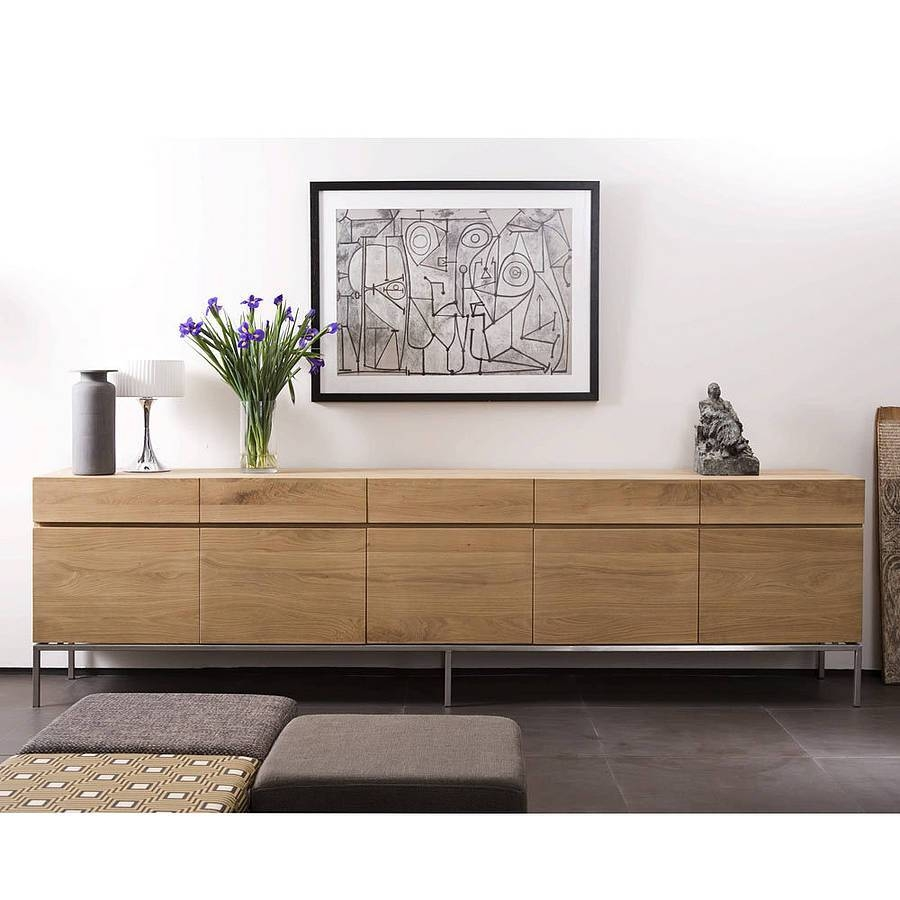 Furniture: Modern Sideboard With White Buffet Server Also Buffet Regarding Sideboards Contemporary (View 12 of 20)