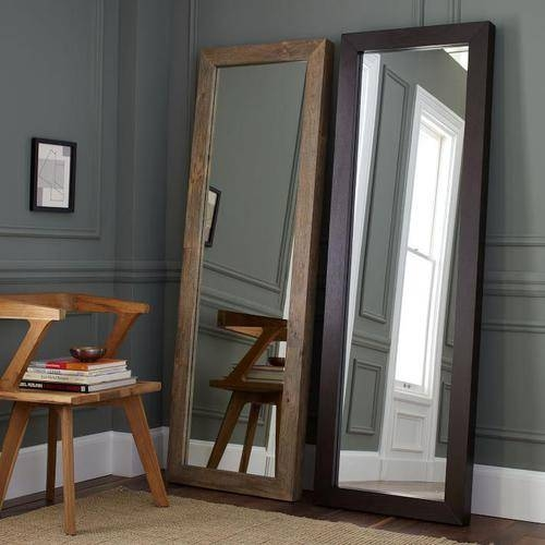 Furniture, The Room With Wooden Gray Color Wall With Wooden Floor Inside Large Standing Mirrors (#14 of 30)