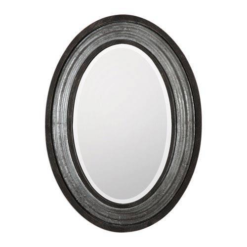 Galina Iron Oval Mirror Uttermost Wall Mirror Mirrors Home Decor Regarding Black Oval Mirrors (#21 of 30)