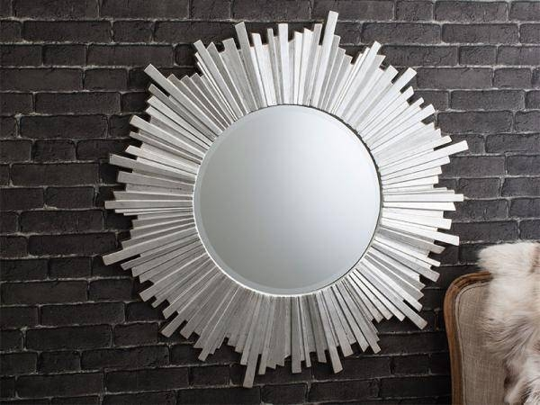 Inspiration about Gallery Contemporary Marilyn Rectangular Mirror With Striped For Designer Round Mirrors (#1 of 20)