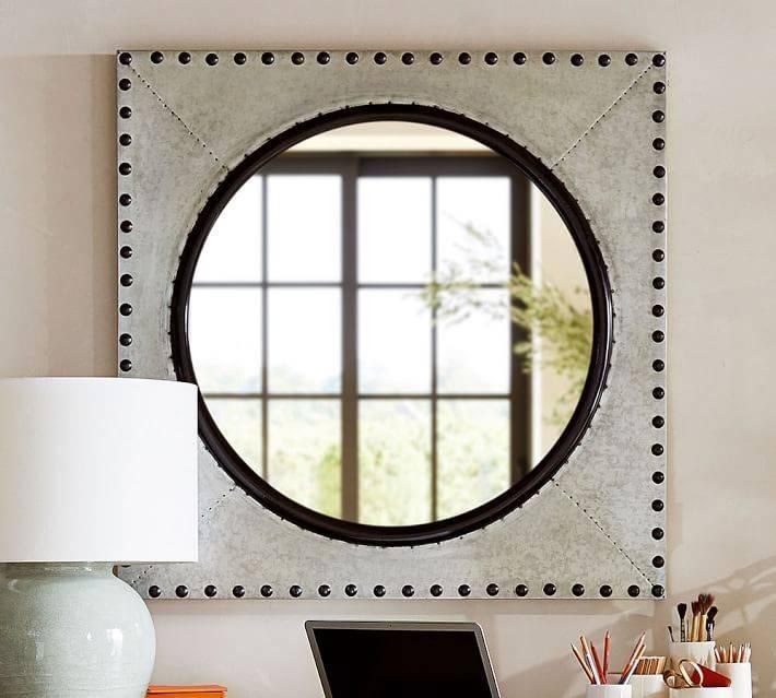 Galvanized Porthole Mirror | Pottery Barn In Porthole Mirrors (#12 of 30)