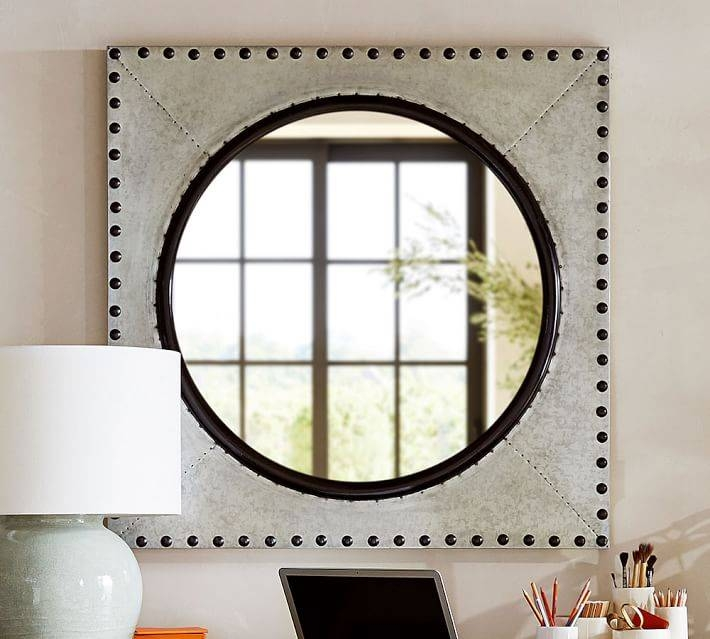 Galvanized Porthole Mirror | Pottery Barn Throughout Porthole Wall Mirrors (View 12 of 20)