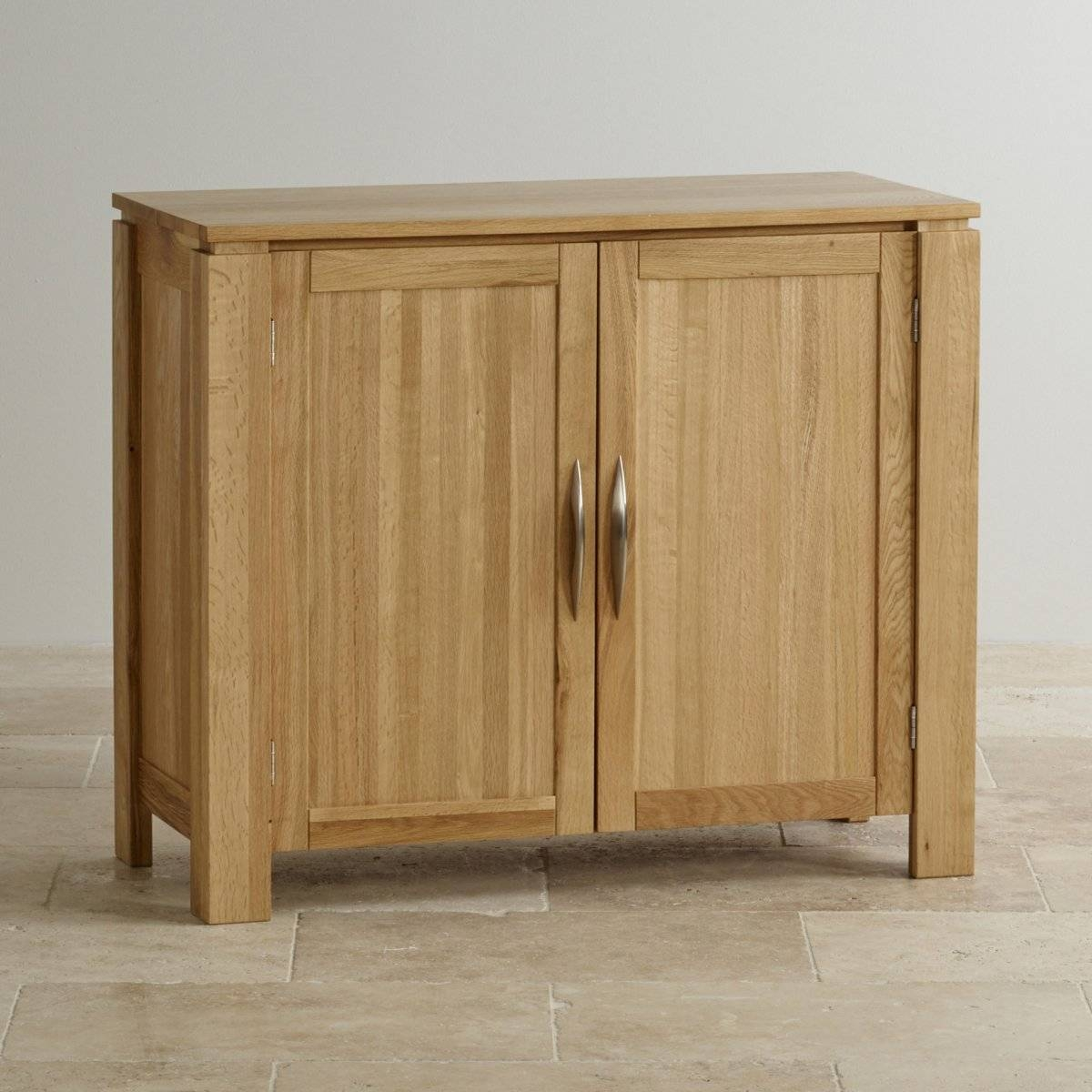 Galway Small Sideboard In Natural Solid Oak | Oak Furniture Land In Narrow Oak Sideboard (#9 of 20)
