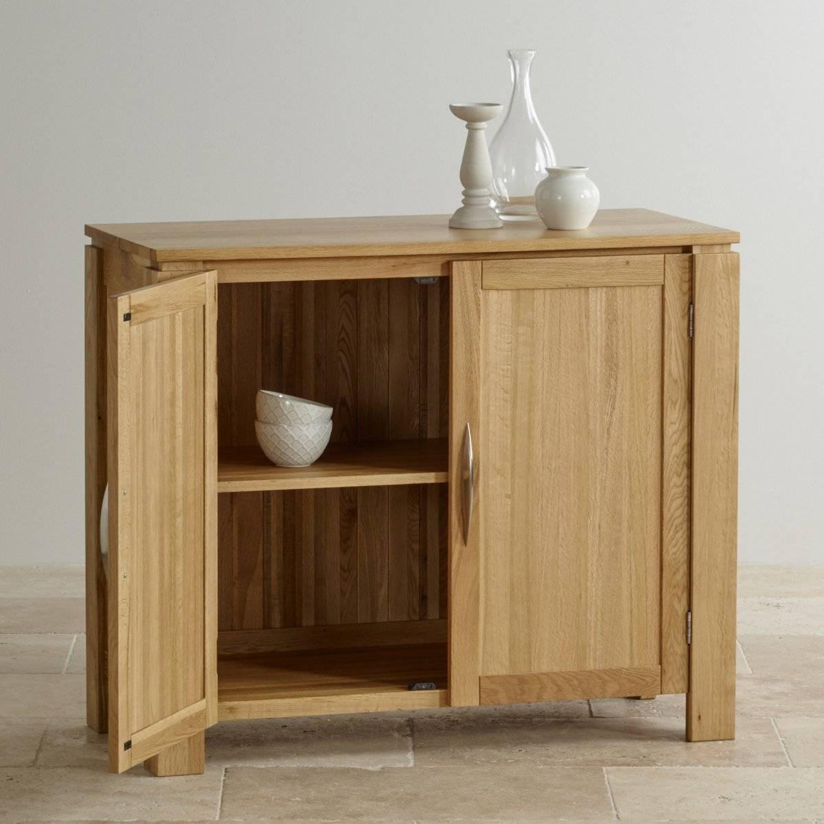 Galway Small Sideboard In Natural Solid Oak | Oak Furniture Land Regarding Narrow Oak Sideboard (#10 of 20)
