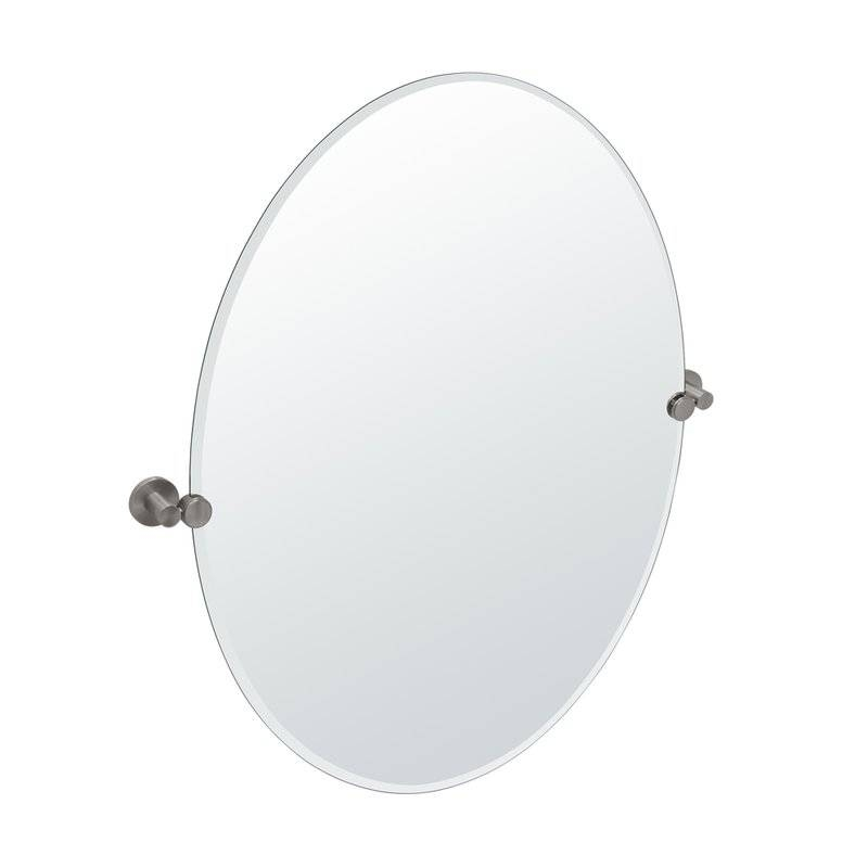 Gatco Channel Oval Wall Mirror & Reviews | Wayfair With Regard To White Oval Wall Mirrors (#4 of 30)