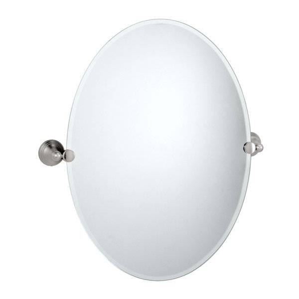Gatco Charlotte Oval Wall Mirror & Reviews | Wayfair In White Oval Wall Mirrors (#5 of 30)