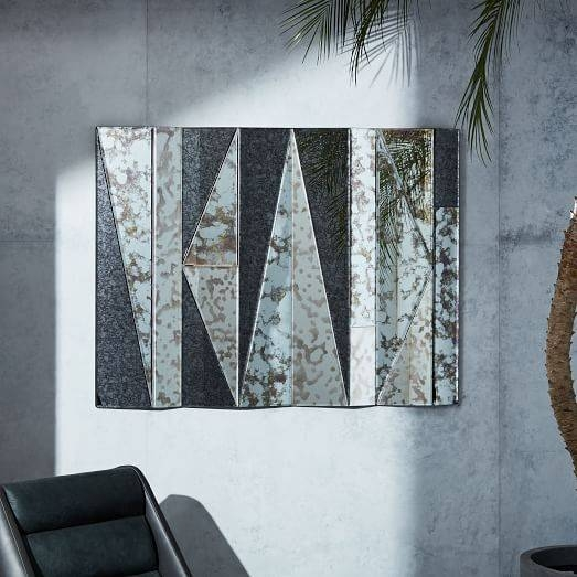 Geo Landscape Wall Mirror | West Elm Throughout Landscape Wall Mirrors (#10 of 30)