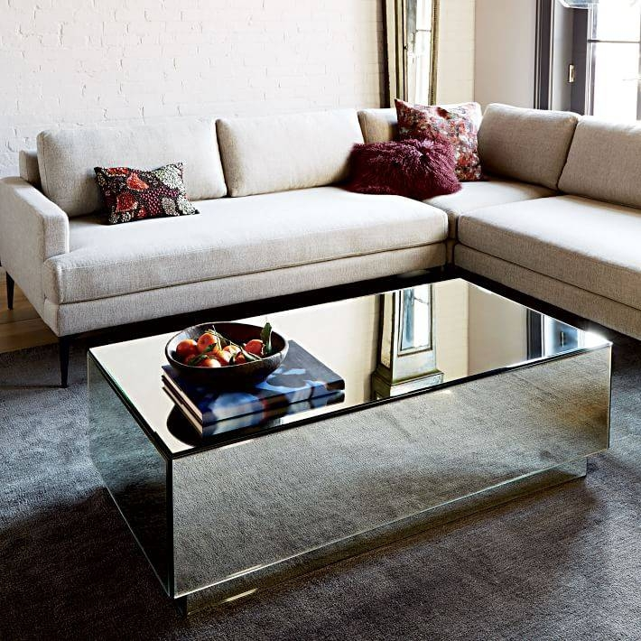 Geo Mirror Storage Coffee Table | West Elm For Occasional Tables Mirrors (#21 of 30)