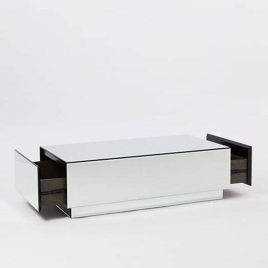 Geo Mirror Storage Coffee Table | West Elm With Regard To Occasional Tables Mirrors (#24 of 30)