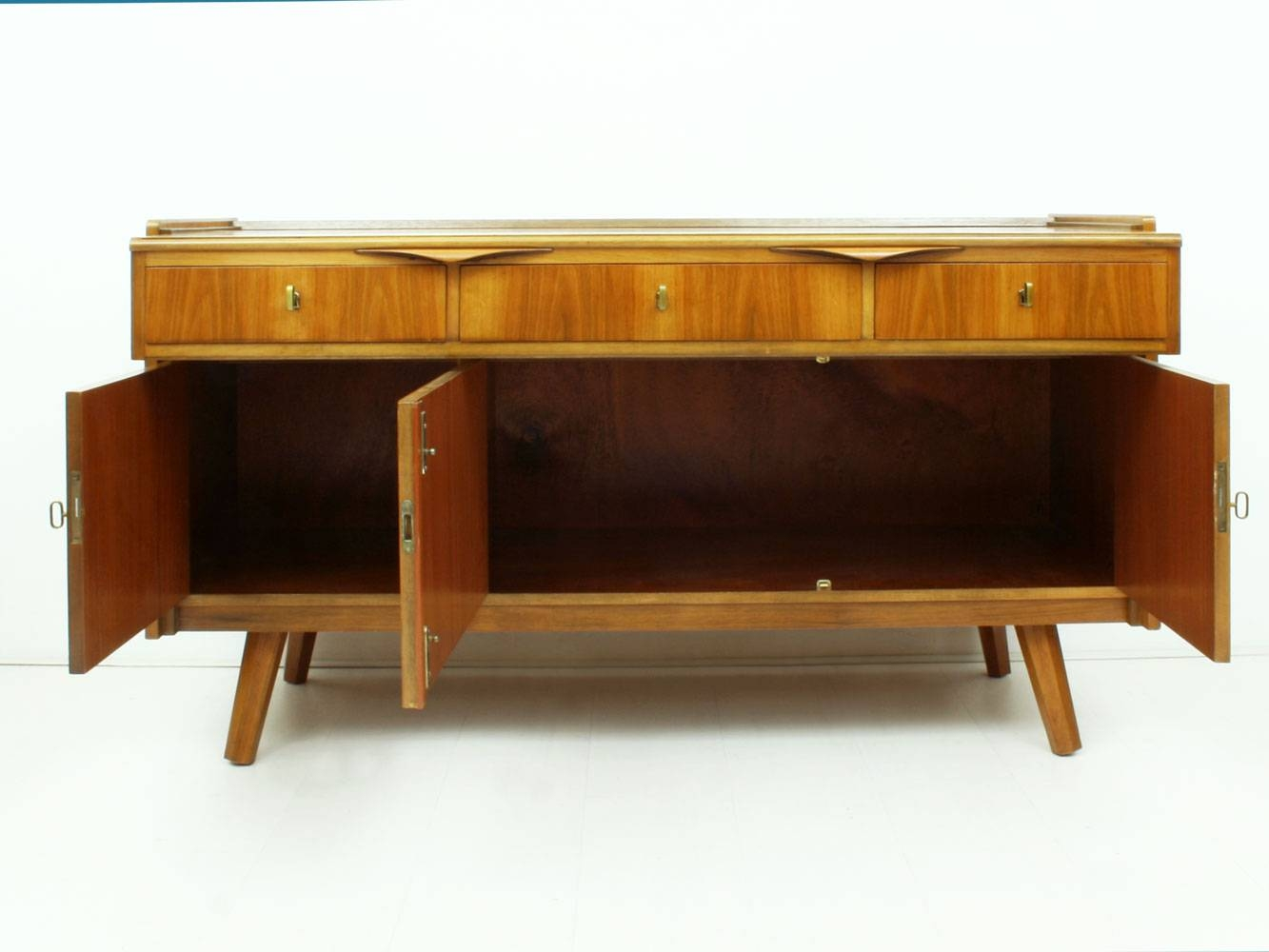 German Walnut Desk & Sideboard, 1950S For Sale At Pamono With Desk Sideboard (#6 of 20)