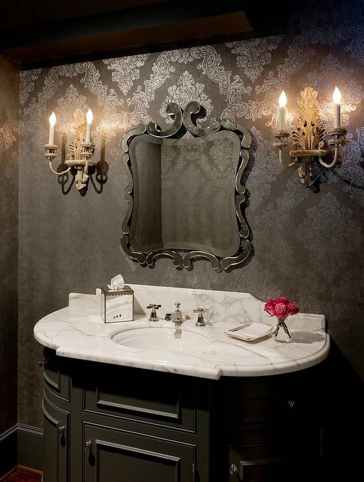 Get Inspired With Amazing Victorian Style For Bathroom Pertaining To Victorian Style Mirrors For Bathrooms (View 17 of 20)