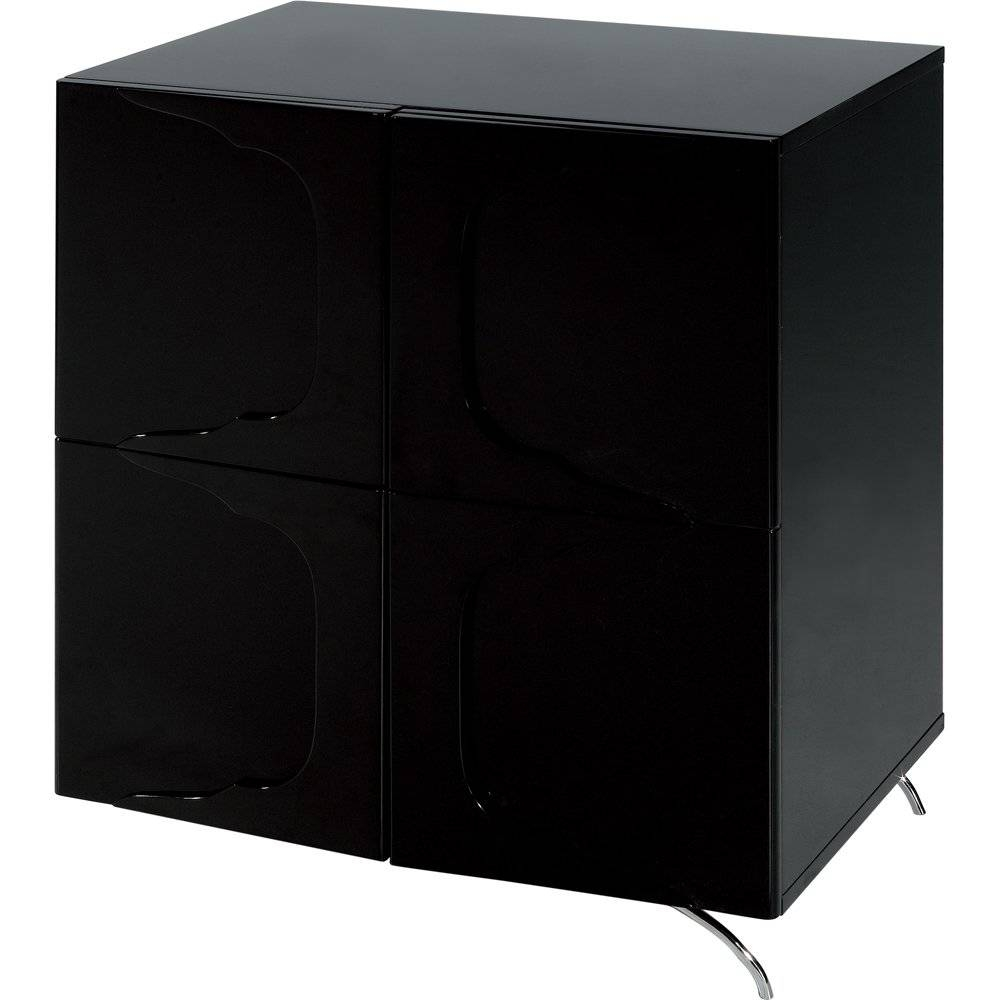 Gillmore Space High Gloss Black Square Sideboard – Gillmore Space Regarding Black Sideboard (View 10 of 20)