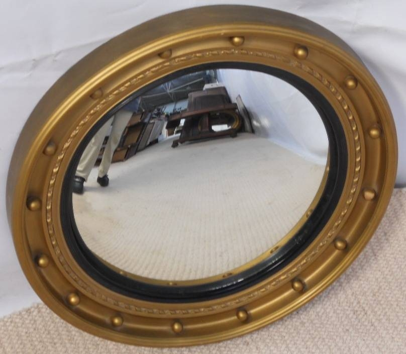 Gilt Convex Hanging Wall Mirror – Sold With Round Convex Wall Mirrors (#22 of 30)