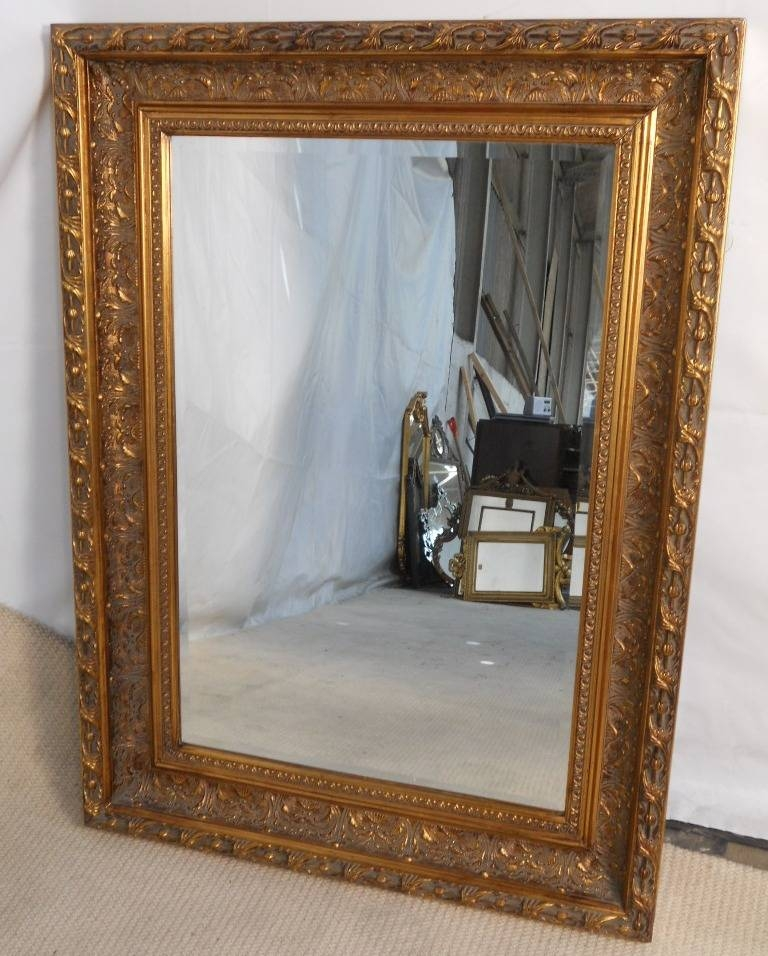 Gilt Framed Hanging Wall Mirror Intended For Gilt Edged Mirrors (#9 of 20)