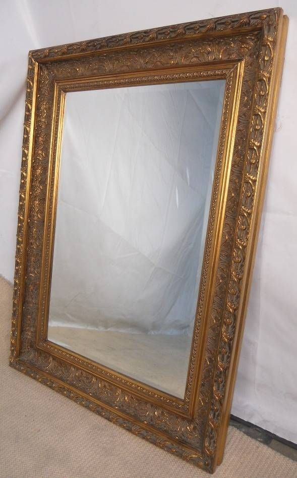 Gilt Framed Hanging Wall Mirror With Regard To Large Gilt Mirrors (#13 of 20)