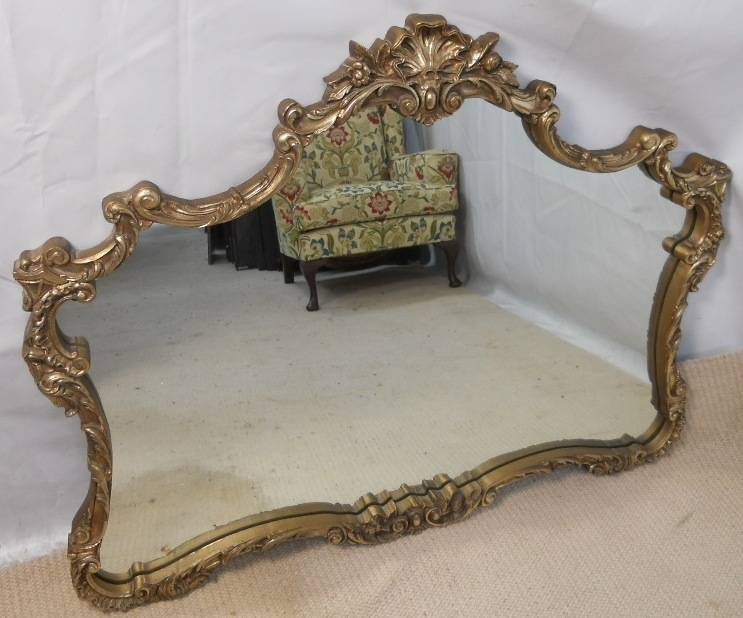 Gilt Framed Overmantel Mirror – Sold Pertaining To Ornate Gilt Mirrors (#12 of 30)