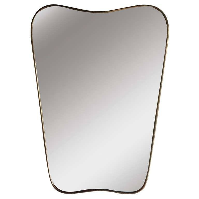 Gio Ponti Brass Mirror At 1Stdibs With Brass Mirrors (#7 of 15)