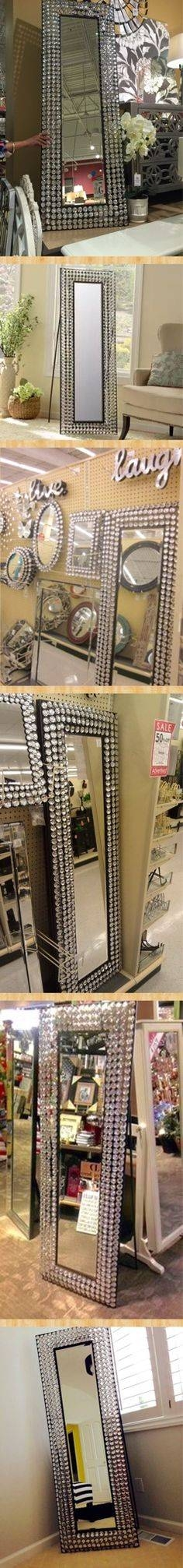 Girls Bathroom Mirror – Bling Cheval Floor Mirror – Open Sides So With Bling Floor Mirrors (#18 of 30)