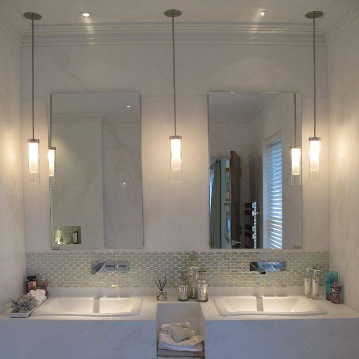 Glamorous Ceiling Mounted Bathroom Light Fixtures 2017 Ideas For Ceiling Light Mirrors (#8 of 15)