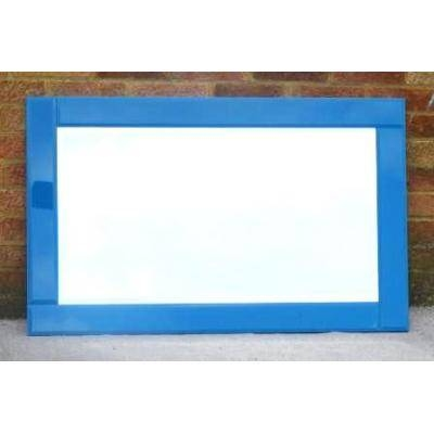 Glass & Coloured Contemporary Mirrors Mirrors – Ayers & Graces With Mirrors With Blue Frame (View 3 of 20)
