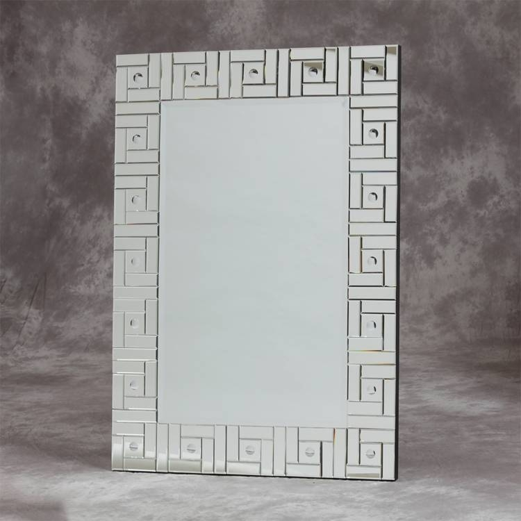 Glass Framed Art Deco Mirror 130 X 90Cm Glass Art Deco Mirror 130 In Art Deco Mirrors (#14 of 20)