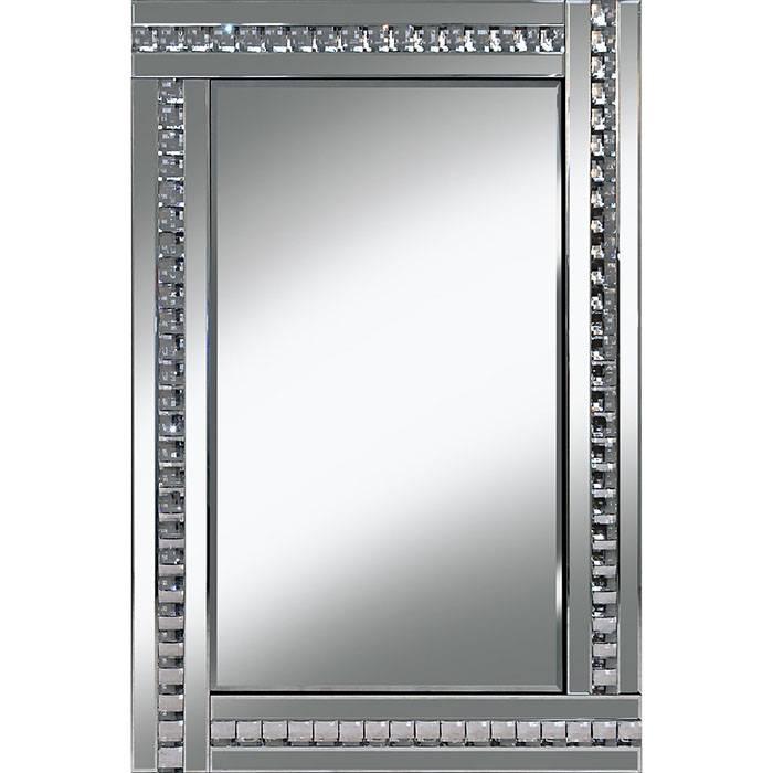 Glass Framed Crystal Mirror – 60 X 80 Cm Glass Framed Crystal Regarding Glitzy Mirrors (View 5 of 20)