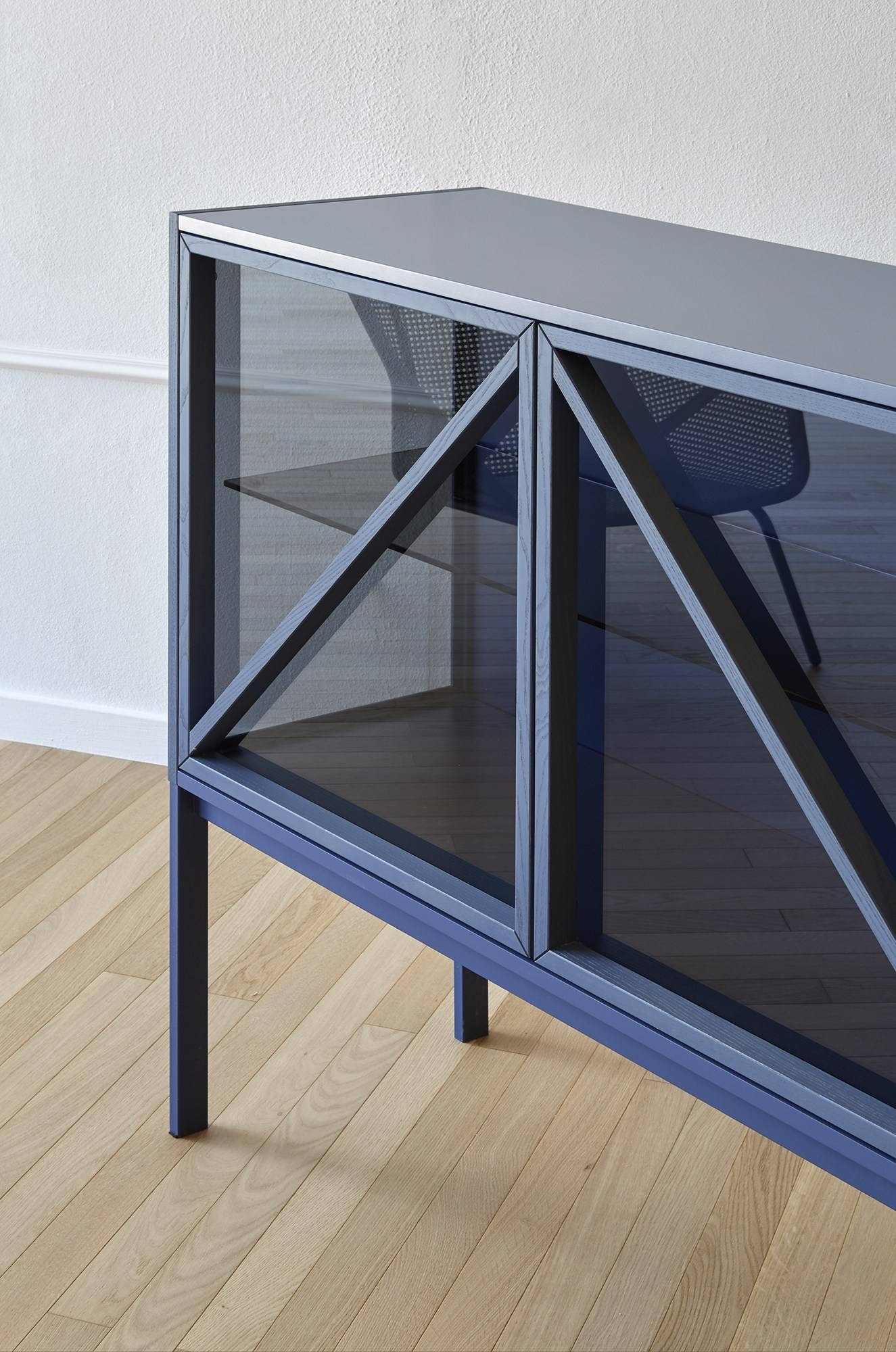 Glass Sideboard With Doors With Integrated Lighting Kramer For Glass Sideboards (#9 of 20)