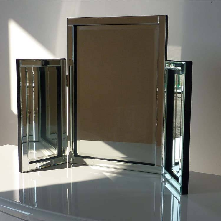 Glass Triple Dressing Table Mirror  (View 12 of 20)