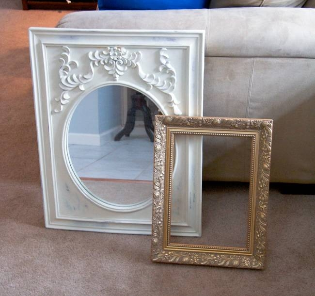 Glitter And Goat Cheese | Gold Mirrors In The Stairway | Glitter Regarding Glitter Frame Mirrors (#12 of 20)