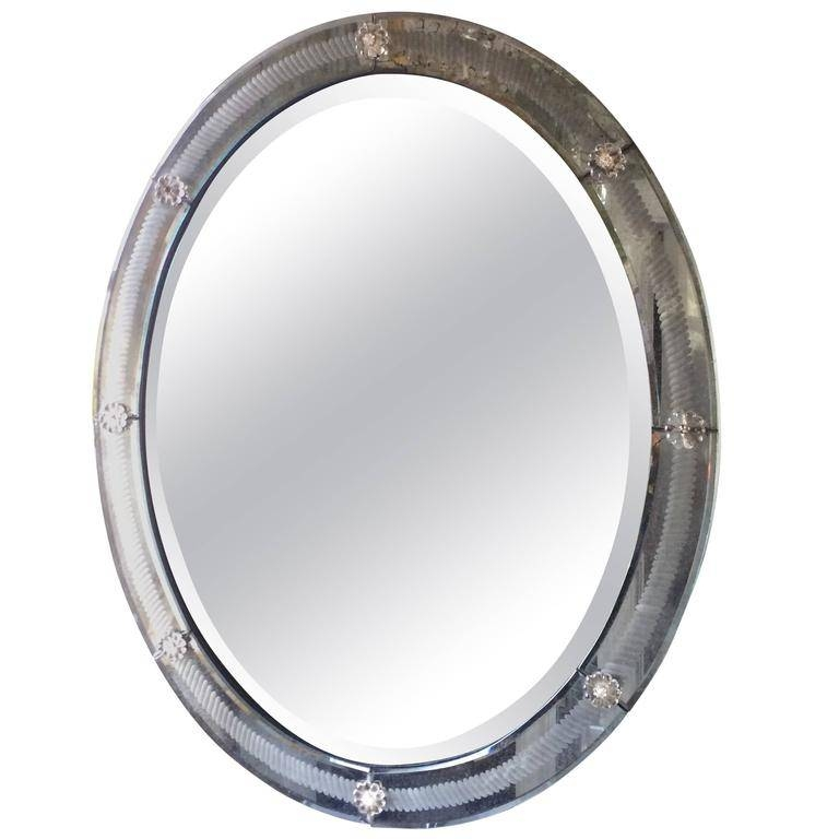 Glittery Vintage Venetian Oval Mirror For Sale At 1Stdibs With Venetian Oval Mirrors (View 12 of 15)