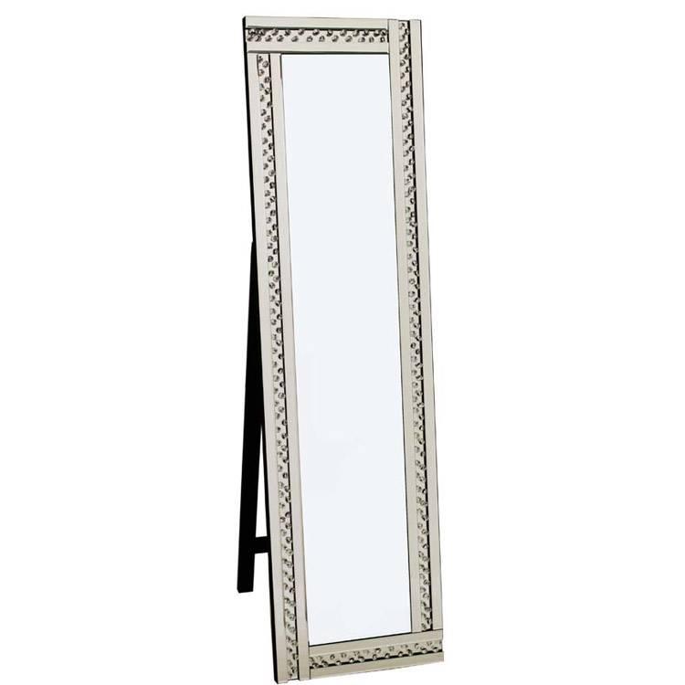 Glitz Silver Cheval Mirror 40X150Cm Glitz Silver Cheval Mirror 150 Within Silver Cheval Mirrors (#12 of 20)