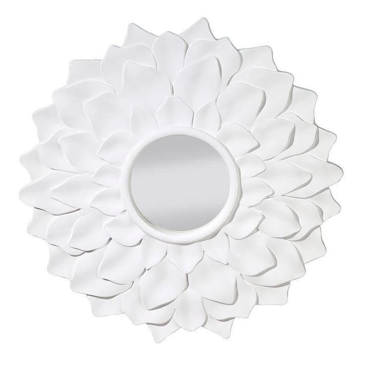 Gloss White Decorative Mirror For White Decorative Mirrors (#14 of 20)