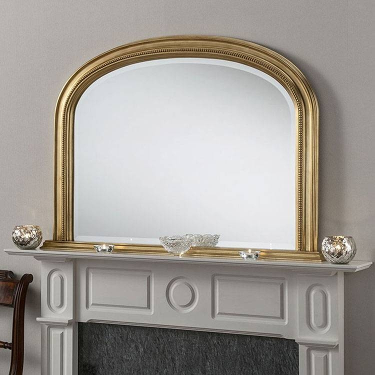 Gold Bevelled Overmantle Mirror 112 (W) X 79Cm (H) Gold Bevelled With Regard To Gold Mantle Mirrors (#16 of 30)